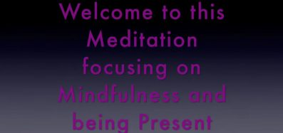 A still shot of the title for the Mindfulness Meditation video
