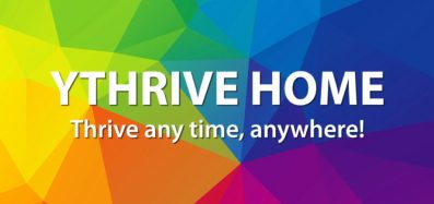 """YThrive Home series main image with the tagline """"Thrive any time, anywhere!"""""""